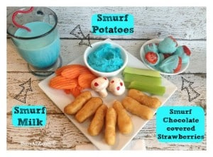 #ad  Dinner and a Movie with The Smurfs! #TastyTenders #cbias