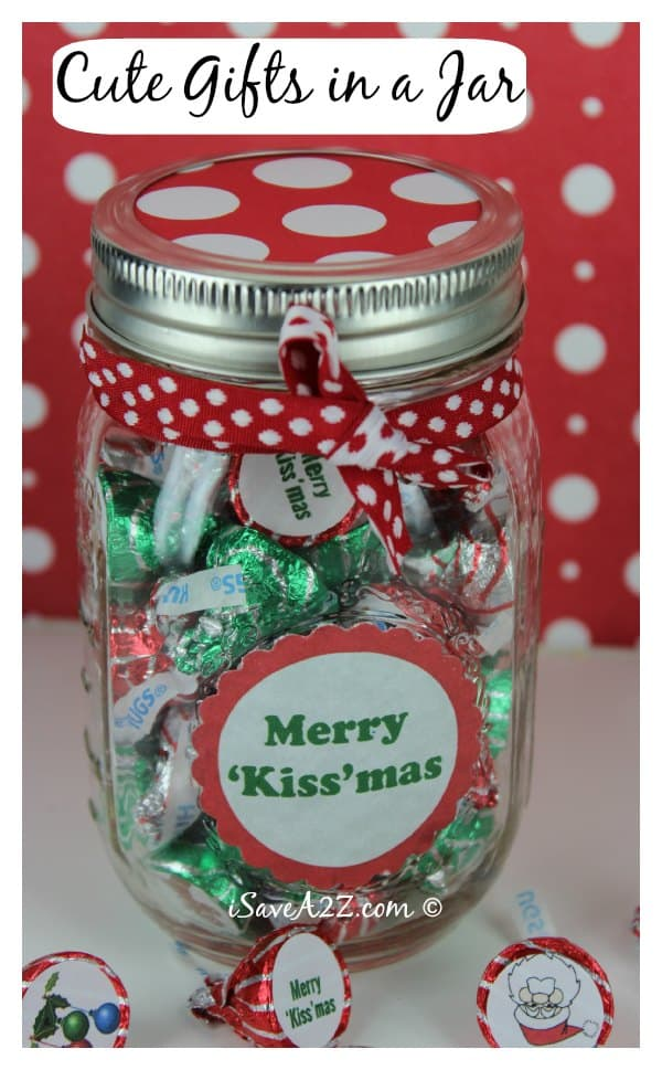 Unique handmade christmas gifts 39 kiss 39 mas gift in a jar Homemade christmas gifts