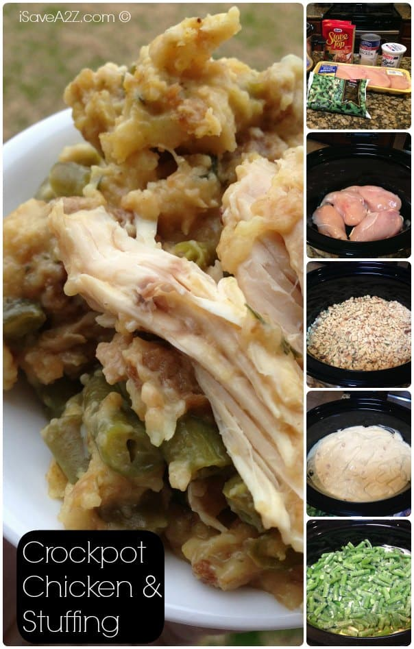 Crockpot Chicken and Stuffing Ingredients