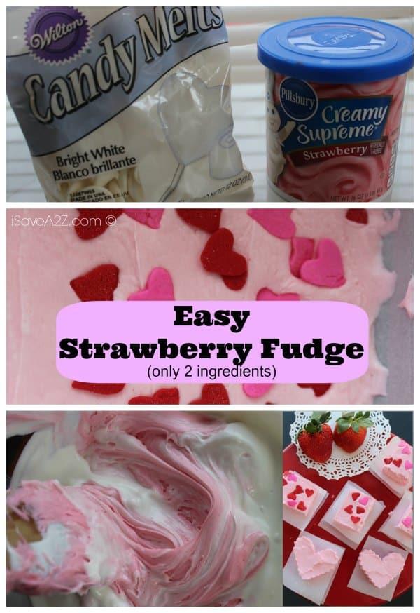 Easy Strawberry Fudge Recipe ingredients needed