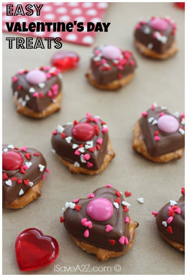 Valentine's Day Chocolate Pretzel Treats