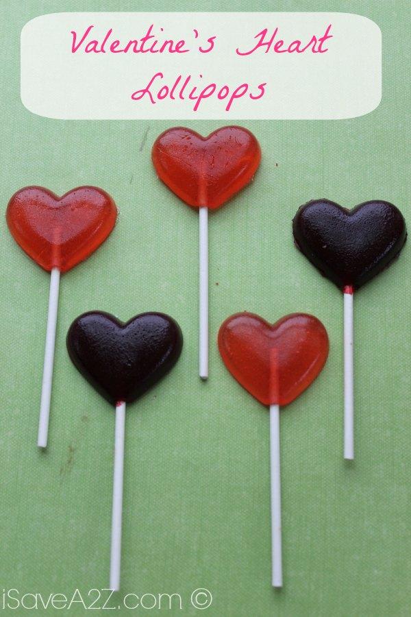 valentines day heart lollipop recipe save print - Valentine Lollipops