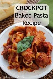 Crockpot Baked Pasta