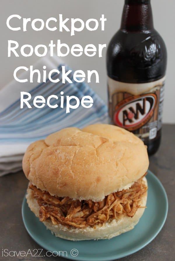 Crockpot Root Beer Chicken Recipe - iSaveA2Z.com