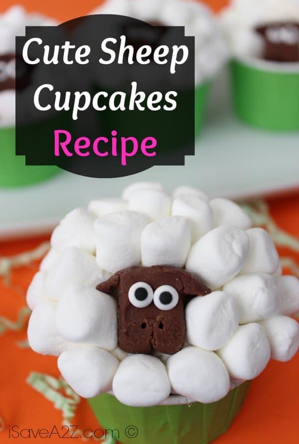 Sheep Cupcakes Recipe - iSaveA2Z.com