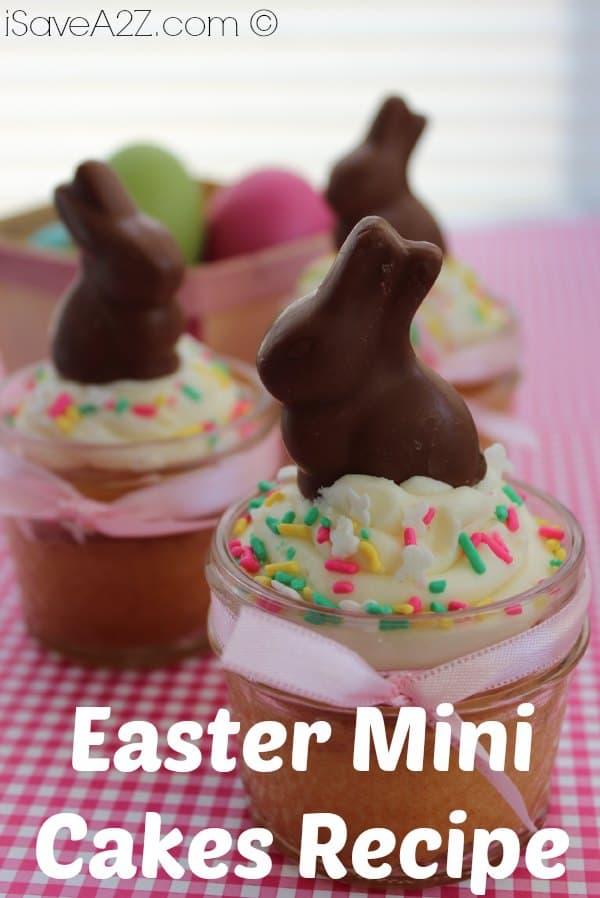Easter Mini Cakes Recipe - iSaveA2Z.com