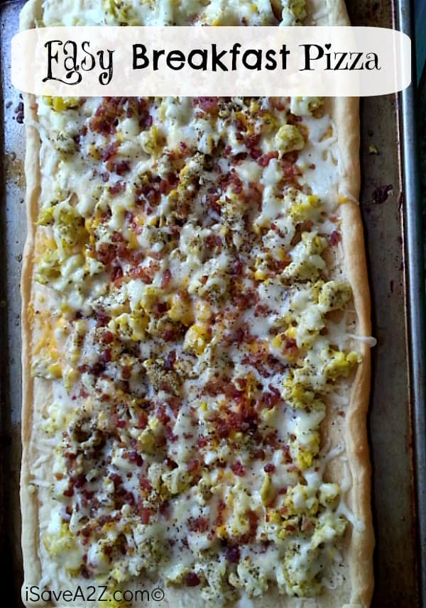 Easy Breakfast Pizza Recipe to try!