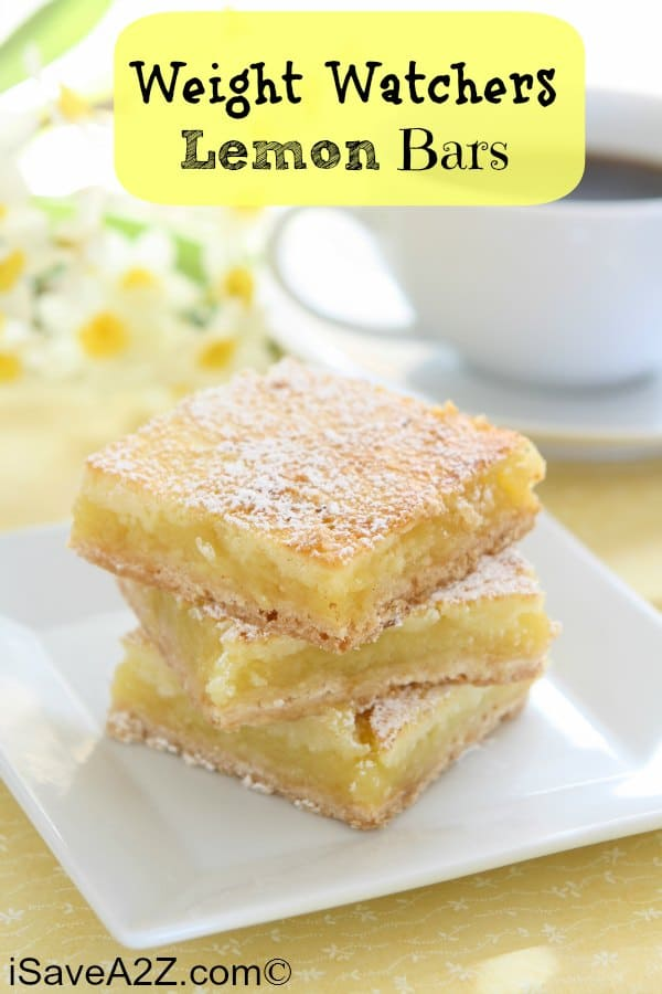 Weight Watchers Lemon Bars Recipe! Only 3 Points Per Serving!
