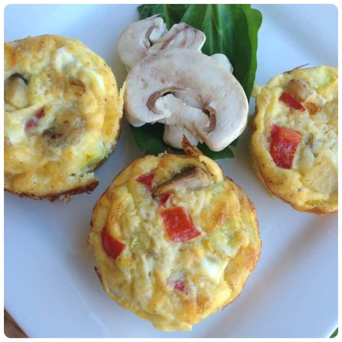 Low Carb Mushroom Omelet muffin recipe