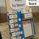 DIY: Magnetic Menu Board