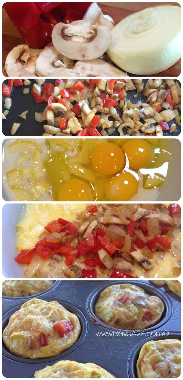 Mushroom Omelet Muffins Recipe Ingredients