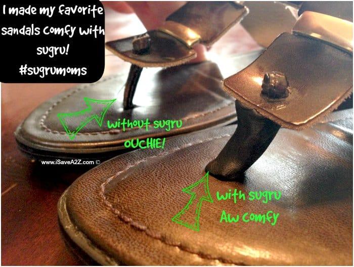 sugru comfy sandals fix #sugrumoms AD