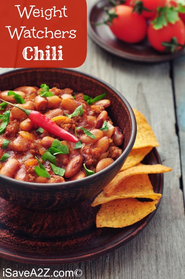 This healthy three bean and ground lean meat Weight Watchers chili recipe is ZERO points on the Freestyle program! It's filling and delicious.