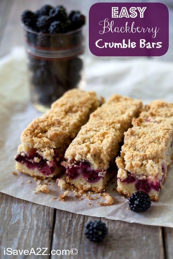 Easy Blackberry Crumble Bars Recipe Perfect For Spring Amp Summer