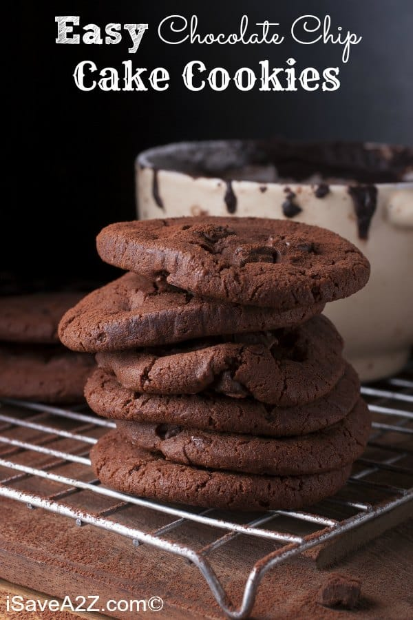 Easy Chocolate Chip Cake Cookies Recipe These Are