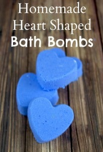 Homemade Heart Shaped Bath Bombs