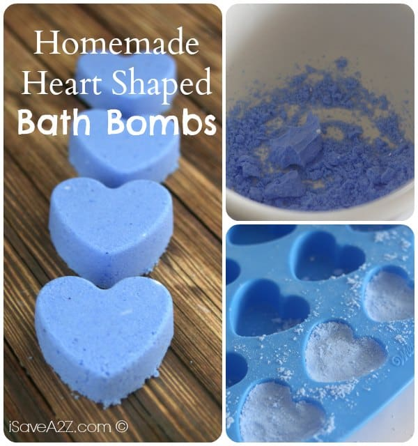 Homemade Heart Shaped Bath Bombs