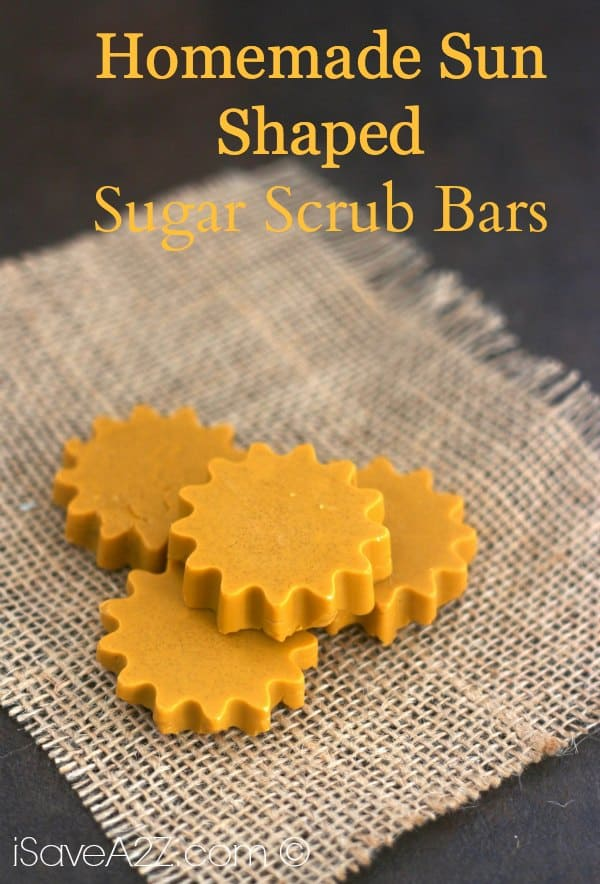 Homemade Sun Shaped Sugar Scrub Bars