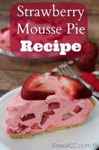 Strawberry Mousse Pie