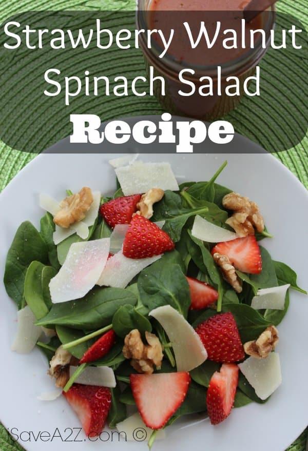 Strawberry Walnut Spinach Salad - iSaveA2Z.com