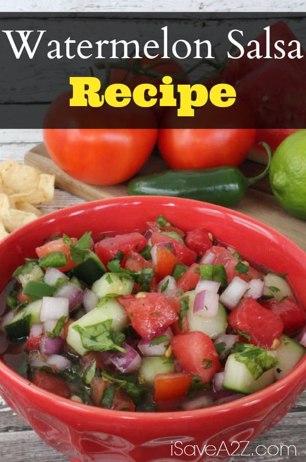 Watermelon Salsa Recipe - iSaveA2Z.com