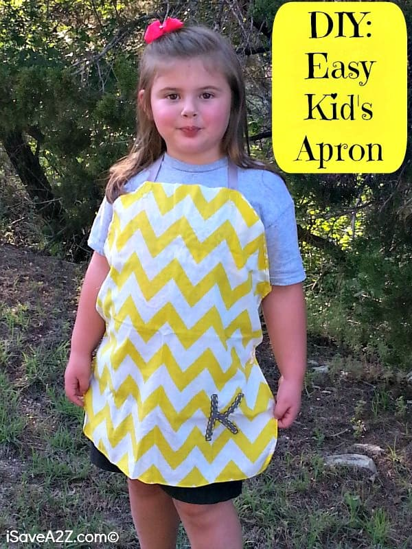 DIY Easy Kids Apron! No sewing machine required!