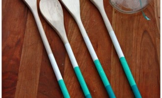 Painted Wooden Spoons Gift Idea