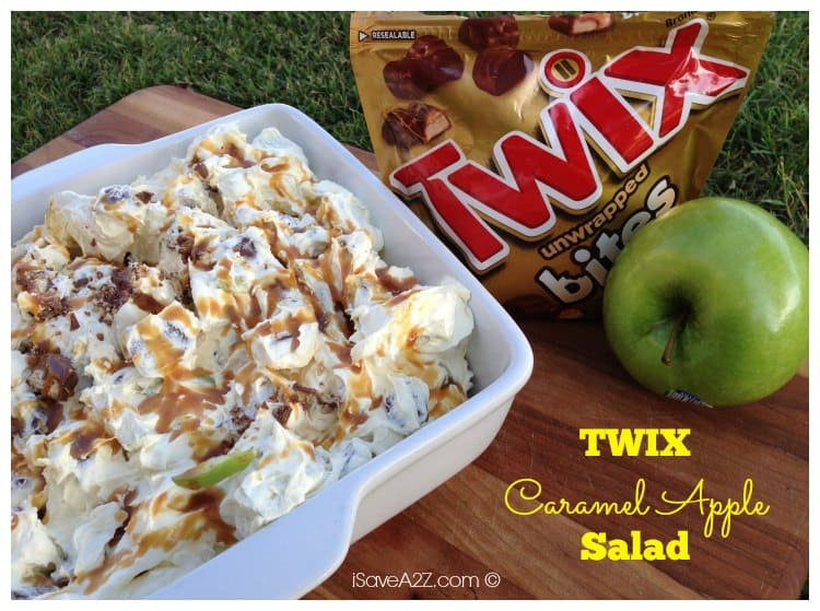 No Bake Twix Caramel Apple Salad Recipe