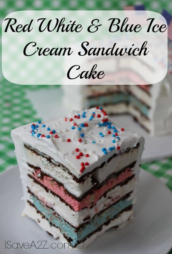 Red White Blue Ice Cream Sandwich Cake iSaveA2Zcom