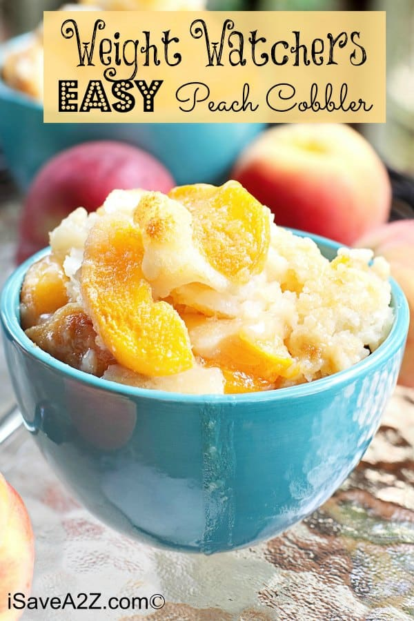 Weight Watchers Easy Peach Cobbler Recipe Only 3 Ingredients