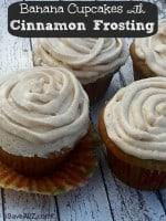 Banana Cupcakes with Cinnamon Frosting