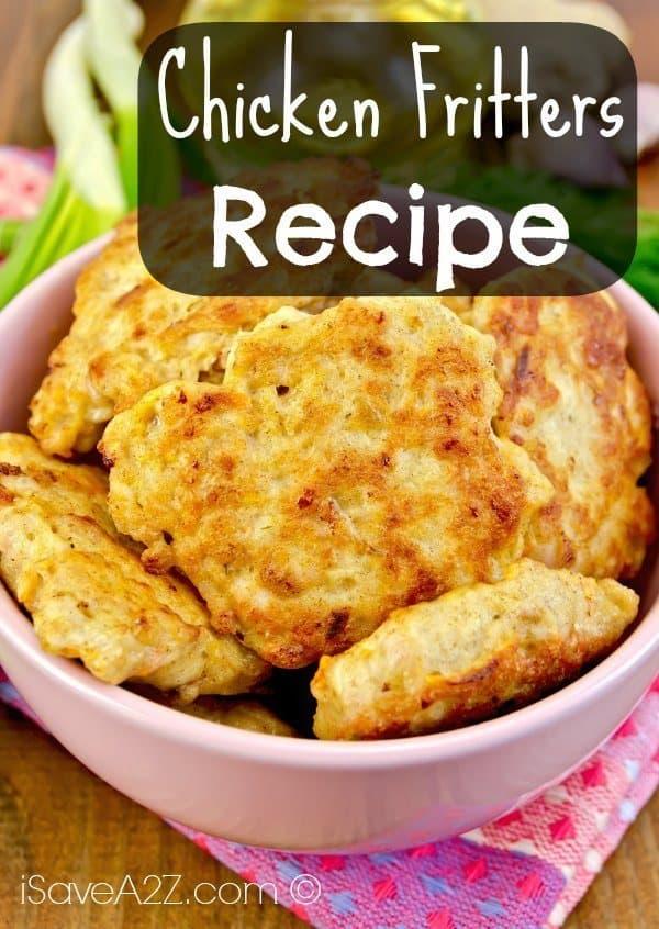 Chicken Fritters Recipe - iSaveA2Z.com