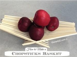 How to Make a Chopsticks Basket