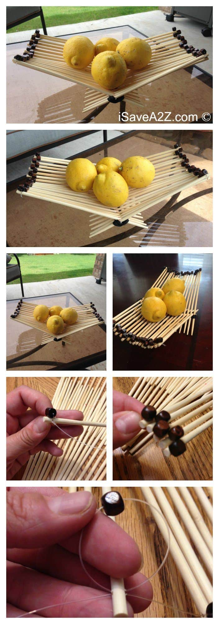 How to Make a Chopsticks Basket with a decorative edge