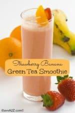 Strawberry Banana Green Tea Smoothie