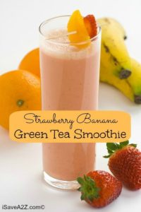 Strawberry Banana Green Tea Smoothie