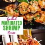 Grilled shrimp on a skewer