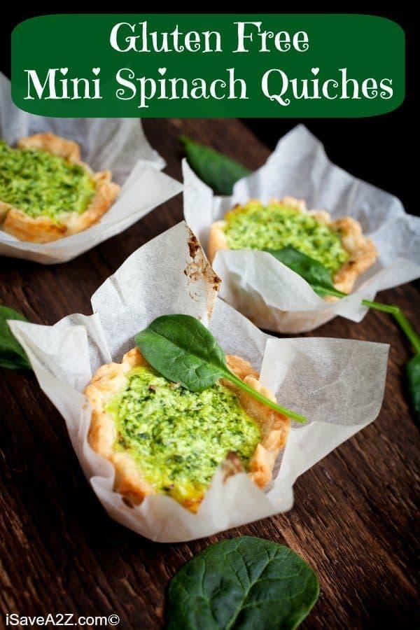 Gluten Free Mini Spinach Quiches