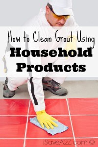 How to Clean Grout Using Household Products