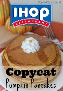 Copycat IHOP Pumpkin Pancakes