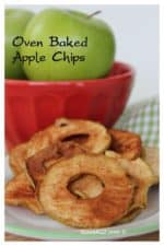 Oven Baked Cinnamon Apple Chips Recipe