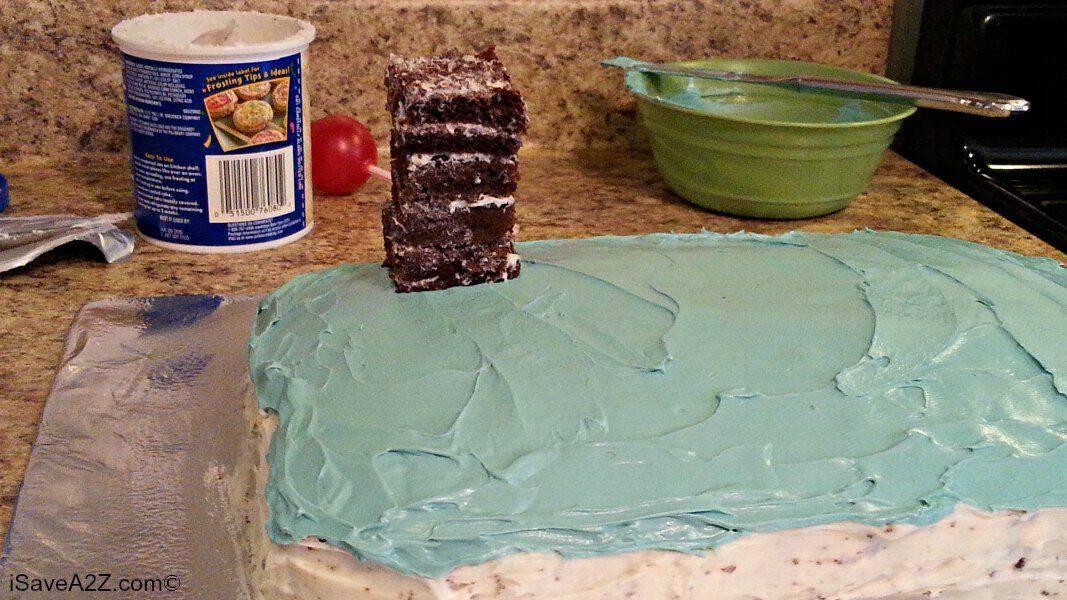 diy wipeout birthday cake