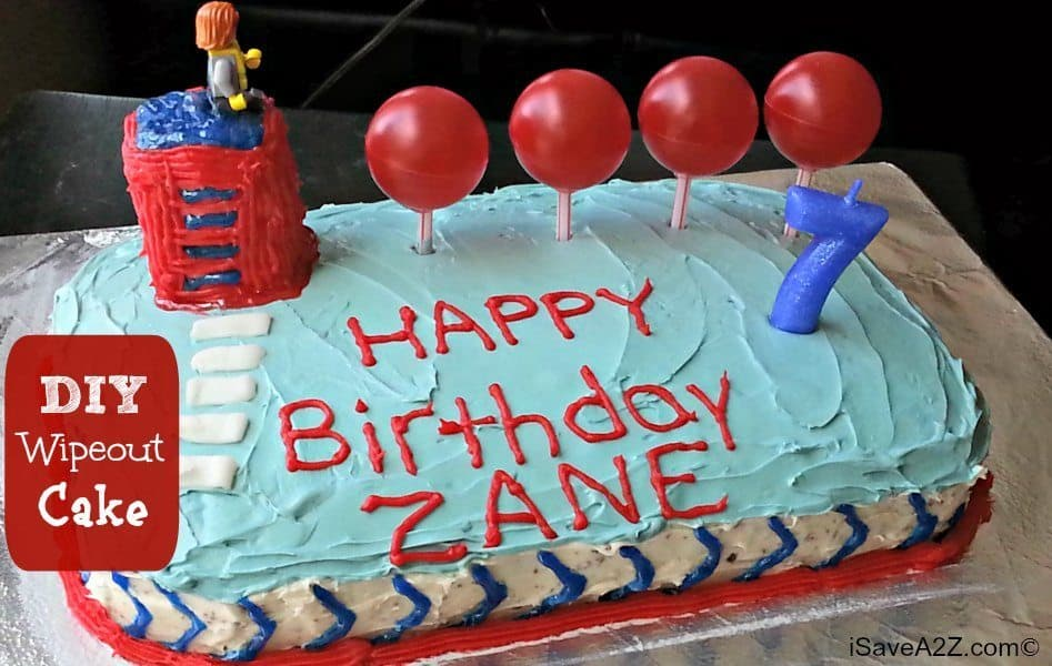 Super Diy Wipeout Birthday Cake Tutorial Looks Amazing Funny Birthday Cards Online Inifodamsfinfo