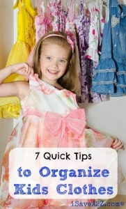 7 Quick Tips to Organize Kids Clothes