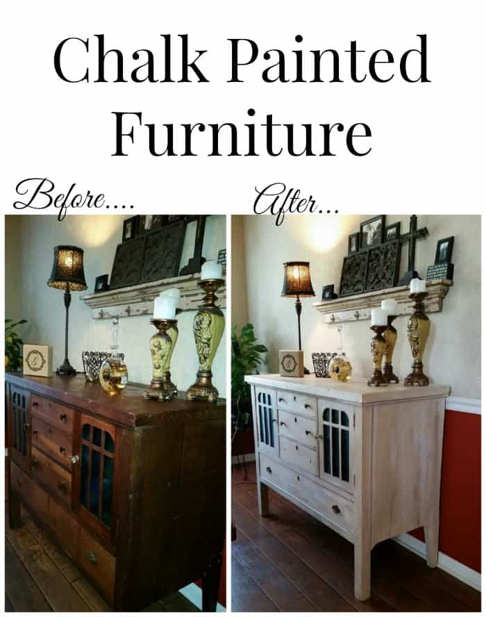 Chalk Painted Furniture using homemade chalk paint