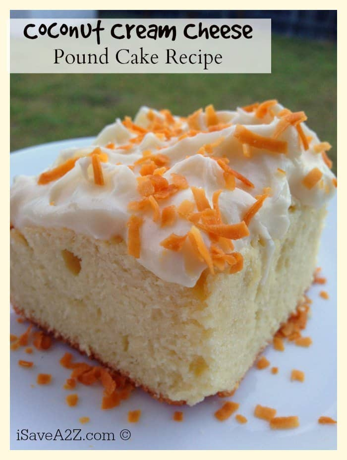 Coconut Cream Cheese Pound Cake Recipe With Frosting Isavea2z Com
