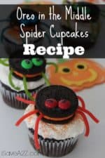 Oreo in the Middle Spider Cupcakes