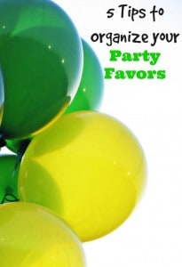 5 Tips to Organize your Party Favors