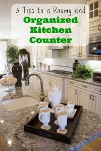 5 Tips to a Roomy and Organized Kitchen Counter
