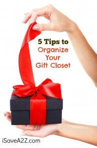 5 tips to organize your gift closet